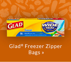Glad Freezer Zipper Bags